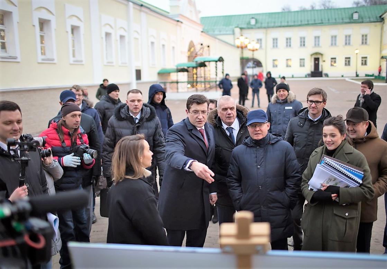 Министр строительства и ЖКХ России и губернатор Нижегородской области оценили проект нового индустриально-ту …