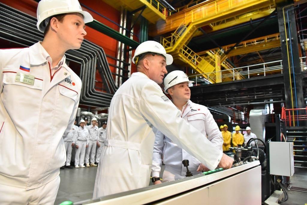 Губернатор Челябинской области Борис Дубровский дал старт выпуску юбилейной трубы «Высоты 239» ЧТПЗ